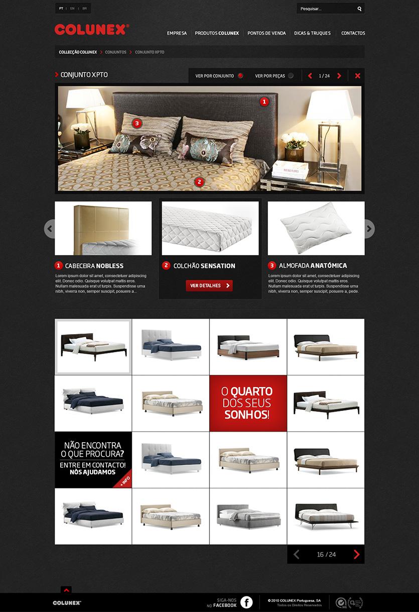 colunex choose set Colunex website