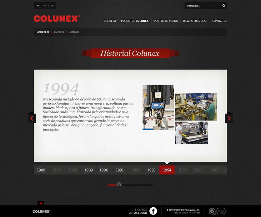colunex history Colunex website