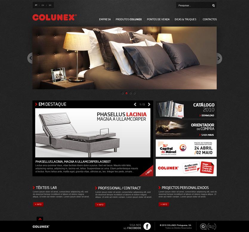 colunex homepage Colunex website