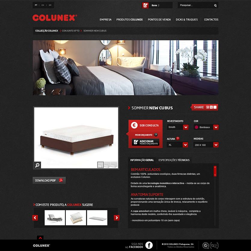 colunex product detail Colunex website