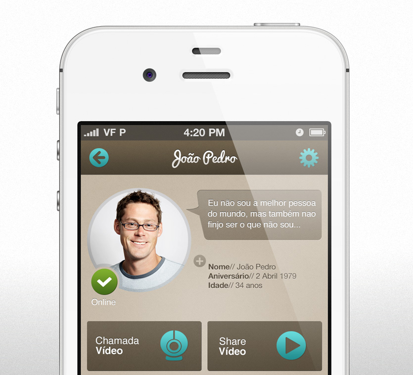 appcontact detail Messaging App