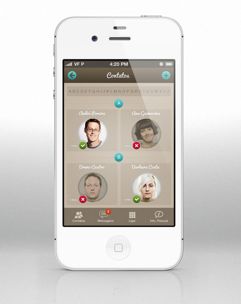 appcontact screen2 Messaging App